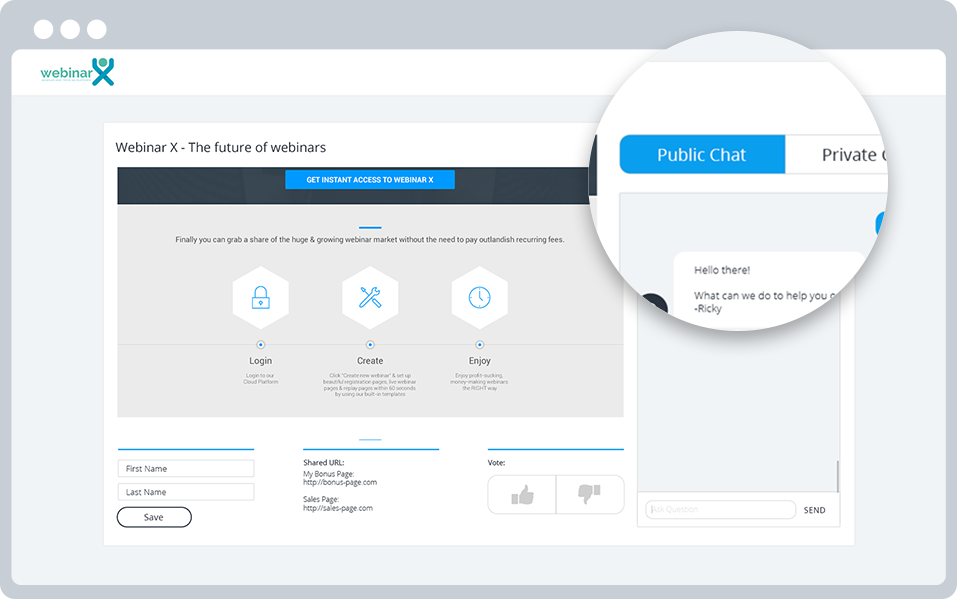 Live Built-in Chat System